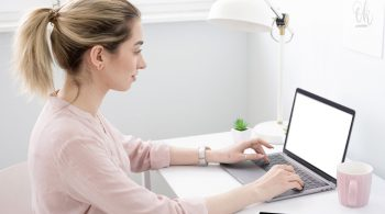 side-view-woman-busy-work-as-freelancer